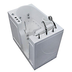 Universal Tubs 3 ft. 9-inch Right Drain Walk-In Whirlpool and Air Bathtub in White