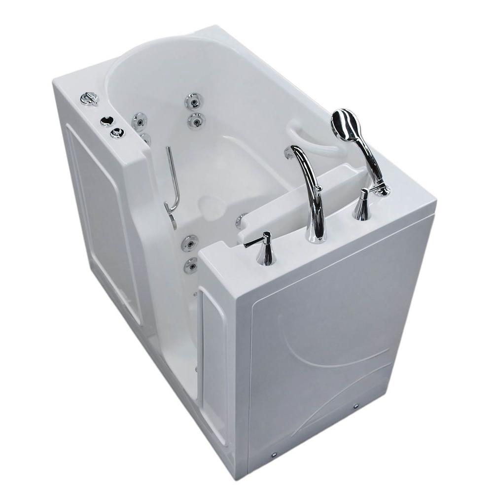 3 Feet 10-Inch Walk-In Whirlpool Bathtub in White