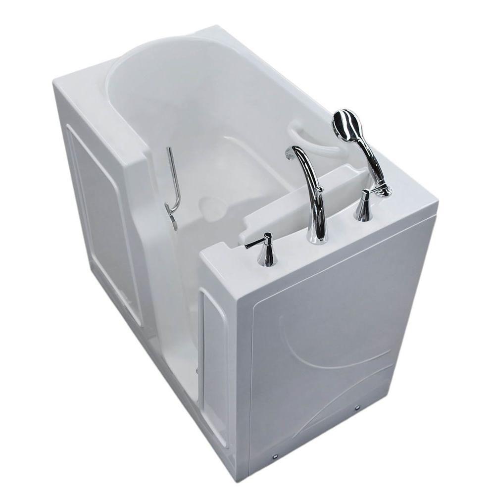 3 Feet 10-Inch Walk-In Non Whirlpool Bathtub in White