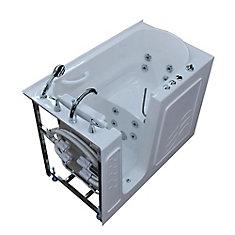 4 ft. 5-inch Left Drain Walk-In Whirlpool Bathtub in White