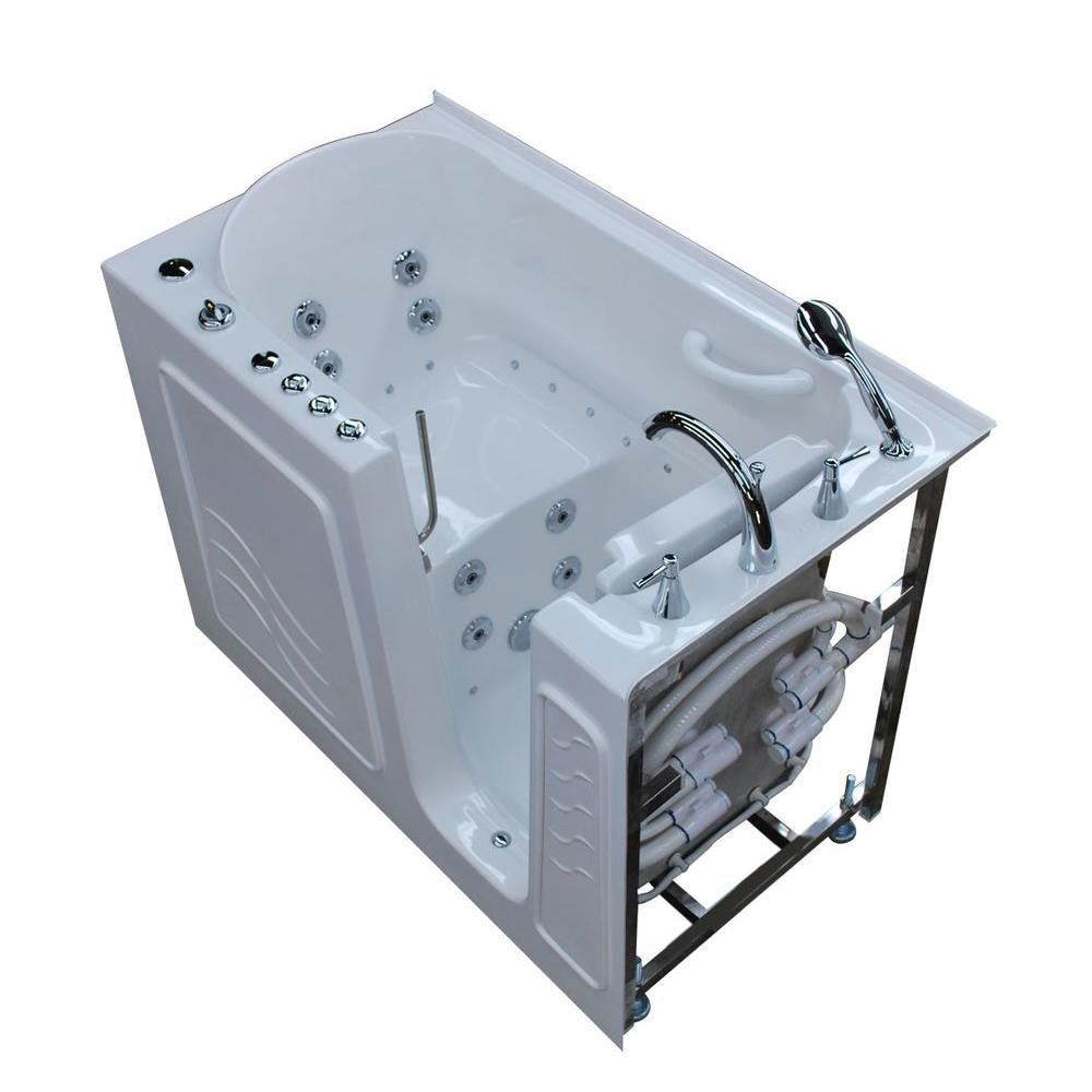 26 x 53 Right Drain White Whirlpool & Air Jetted Walk-In Bathtub HD2653RWD in Canada