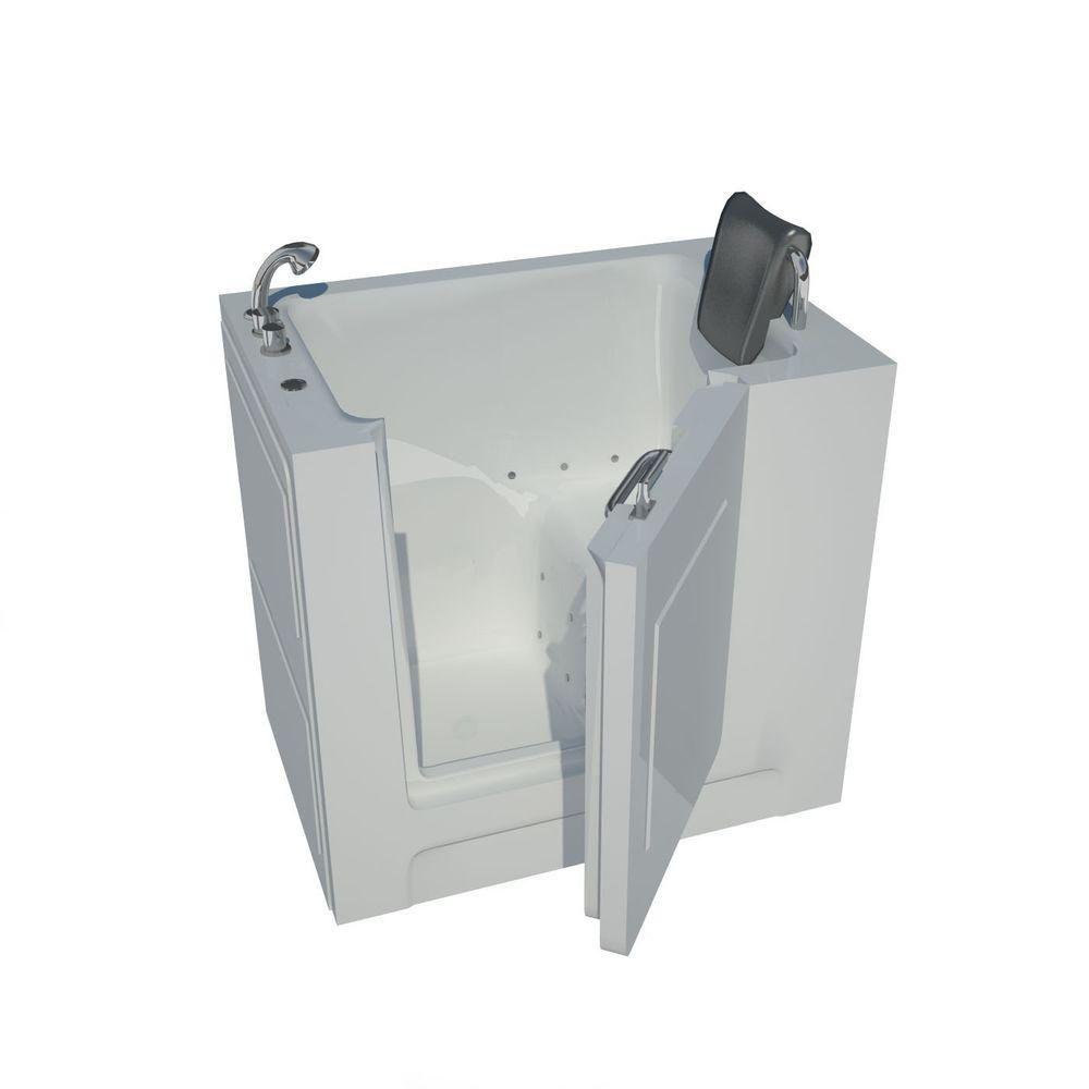 3 Feet 3-Inch Walk-In Whirlpool Bathtub in White