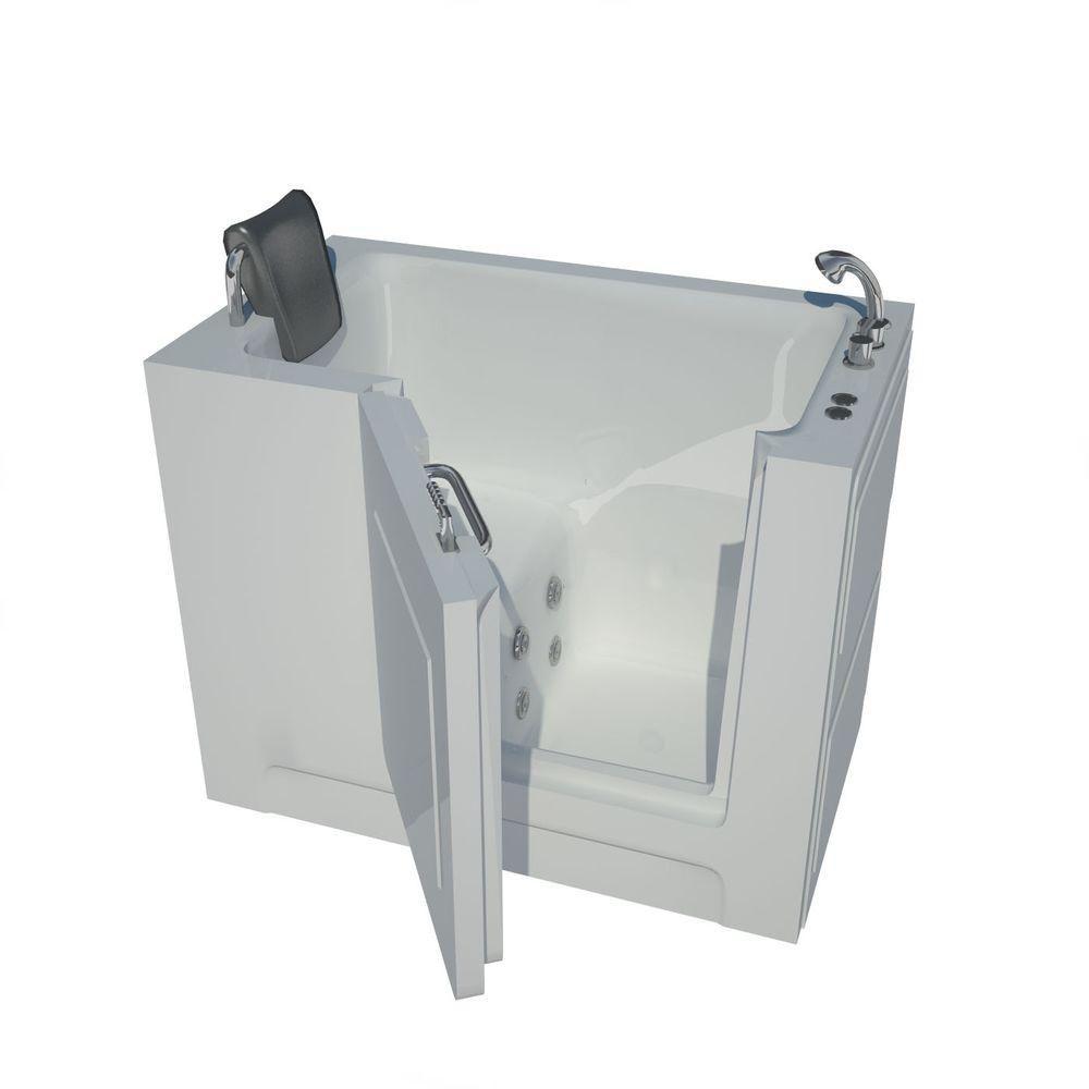Universal Tubs 3 Feet 11-Inch Walk-In Whirlpool Bathtub in White