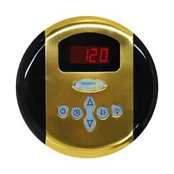 Steamspa Programmable Control Panel with Presets in Polished Brass