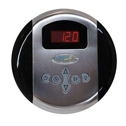 Steamspa Programmable Control Panel with Presets in Brushed Nickel
