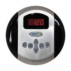 Steamspa Panneau de commande programmable avec heure et température et fini chromé
