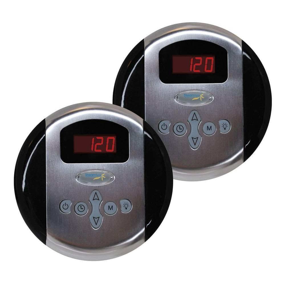 Programmable Dual Control Panels in Brushed Nickel