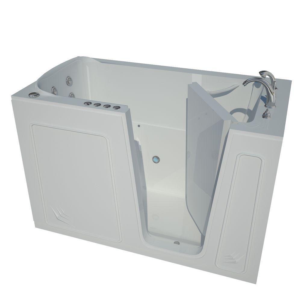 32 x 60 Right Drain White Whirlpool & Air Jetted Walk-In Bathtub HD3260RWD in Canada