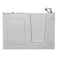 Universal Tubs 5 ft. Right Drain Walk-In Whirlpool Bathtub in White