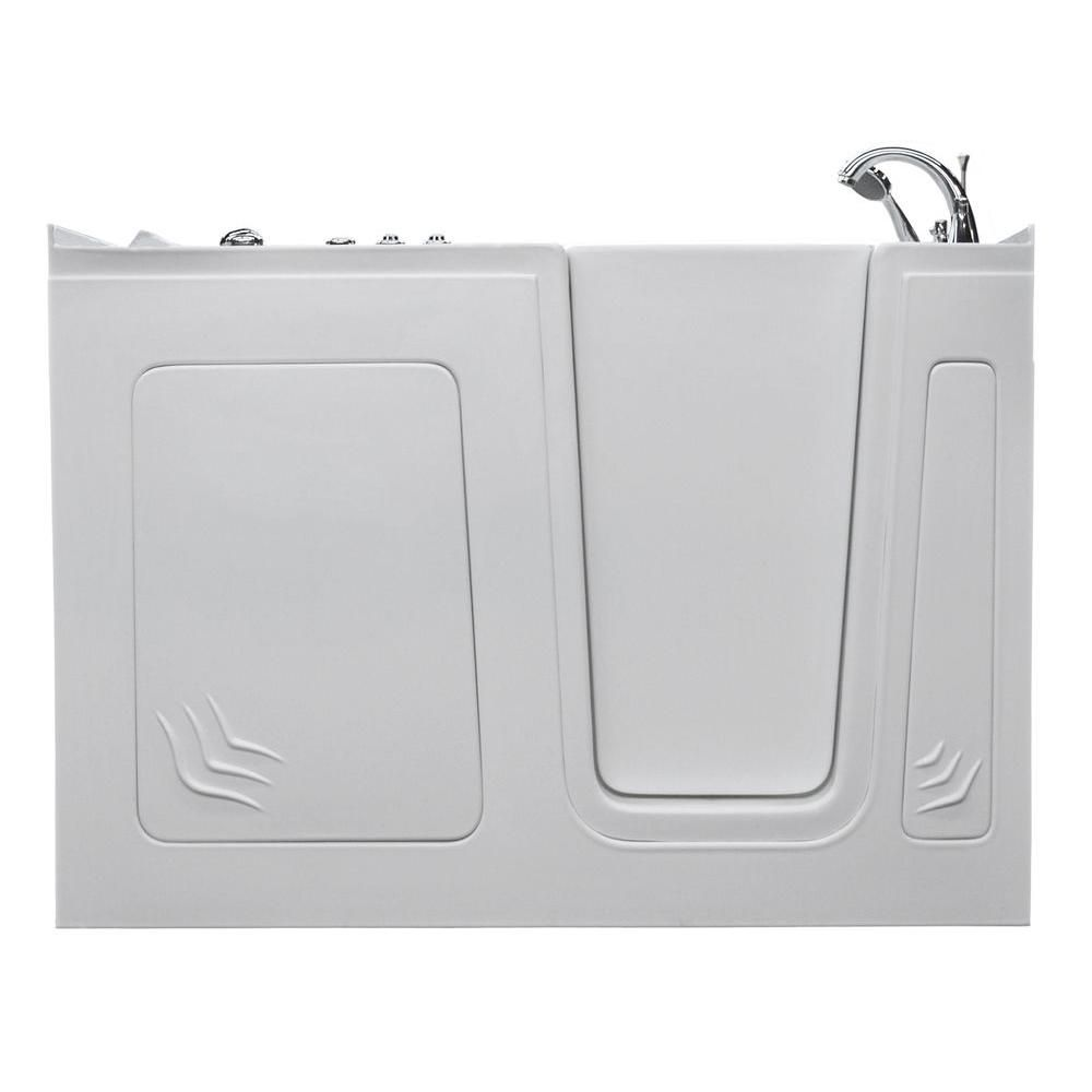 Universal Tubs 5 ft. Right Drain Walk-In Whirlpool Bathtub in White