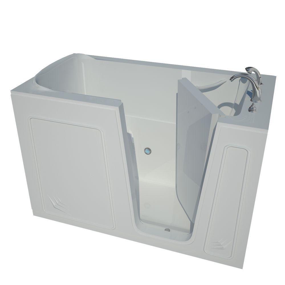 5 Feet Walk-In Non Whirlpool Bathtub in White