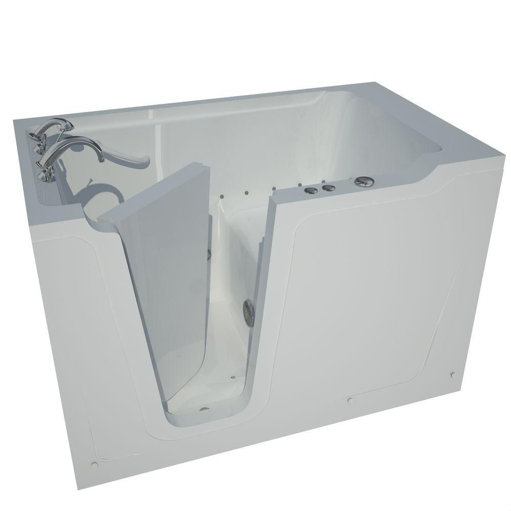 Universal Tubs 5 ft. Left Drain Walk-In Air Bathtub in White