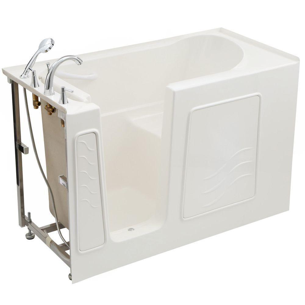 26 x 53 White Soaker Walk-In Tub Left Drain B2653LWS in Canada