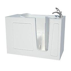 Universal Tubs 4 ft. 5-inch Fiberglass Alcove Rectangular Right Drain Walk-In Bathtub with Handheld Shower in White