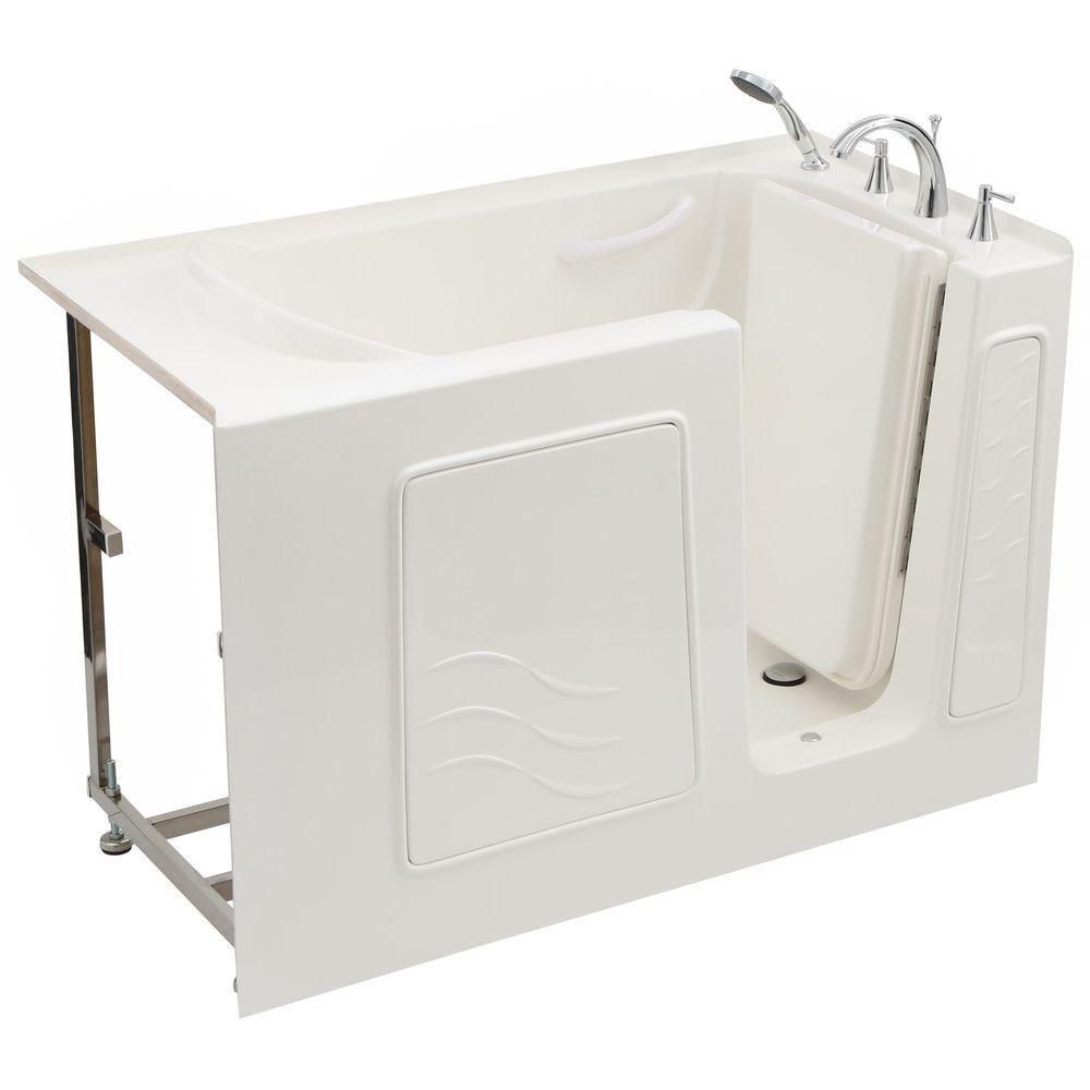 4 Feet 5-Inch Walk-In Non Whirlpool Bathtub in White