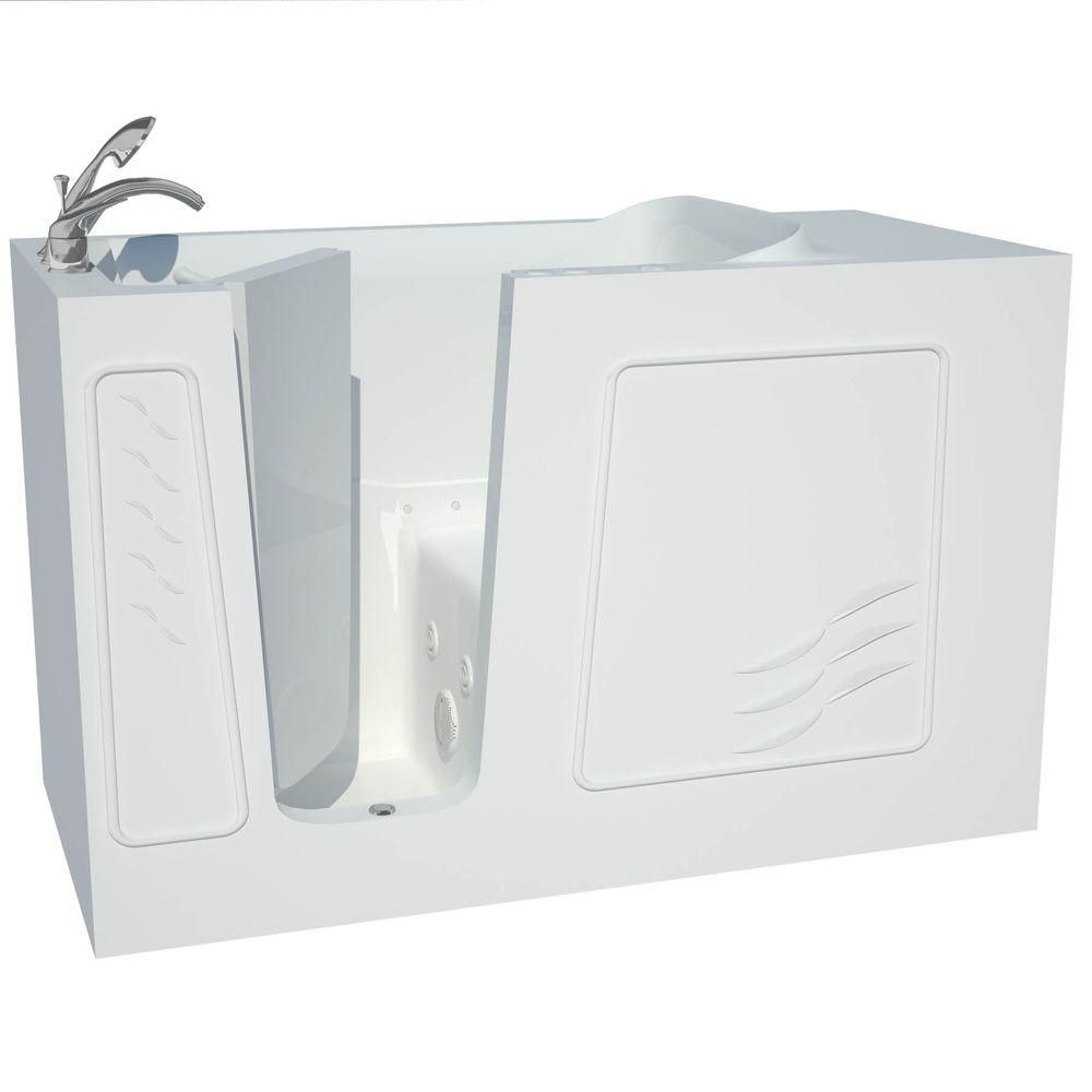 30 x 60 White Dual Whirlpool & Air Walk-In Tub Left Drain B3060LWD Canada Discount