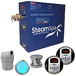 Steamspa Royal 4.5kw Steam Generator Package in Chrome