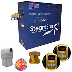 Royal 4.5kw Steam Generator Package in Polished Brass