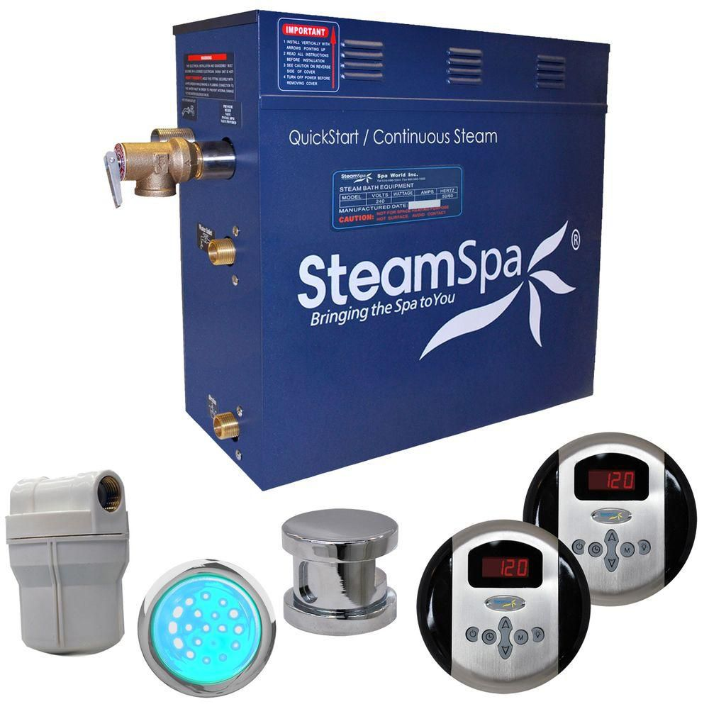 Royal 7.5kw Steam Generator Package in Chrome
