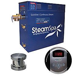 Steamspa Oasis 9kW Steam Bath Generator Package in Brushed Nickel