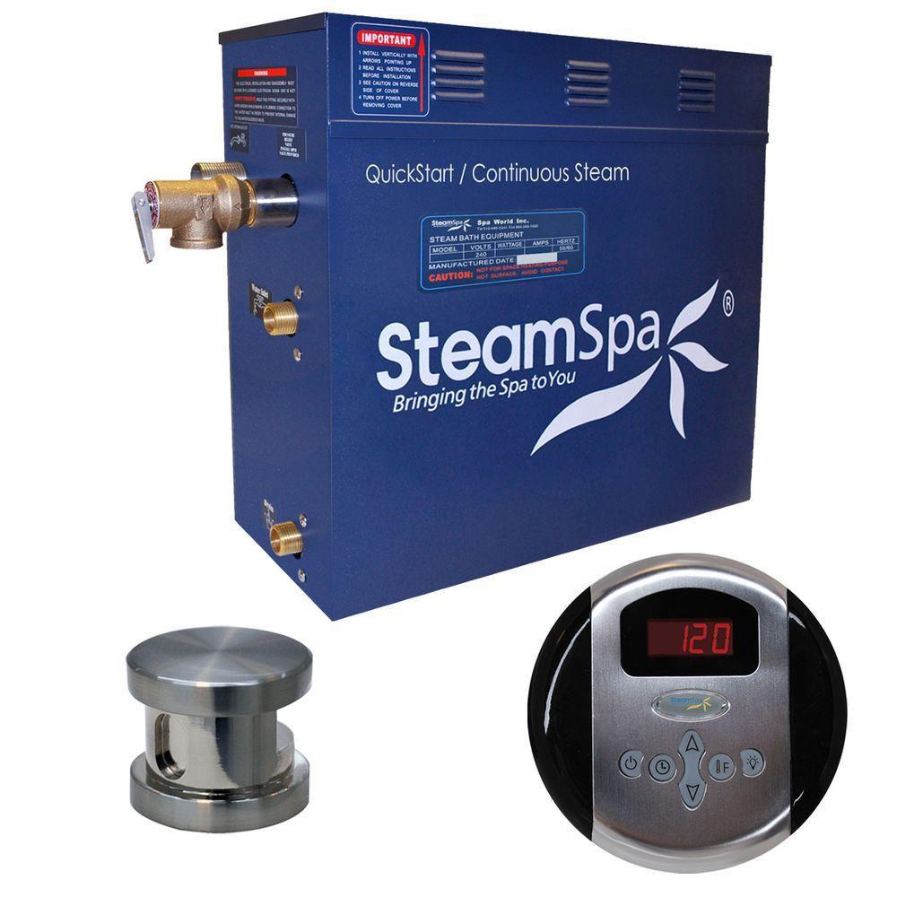 Oasis 9kw Steam Generator Package in Brushed Nickel