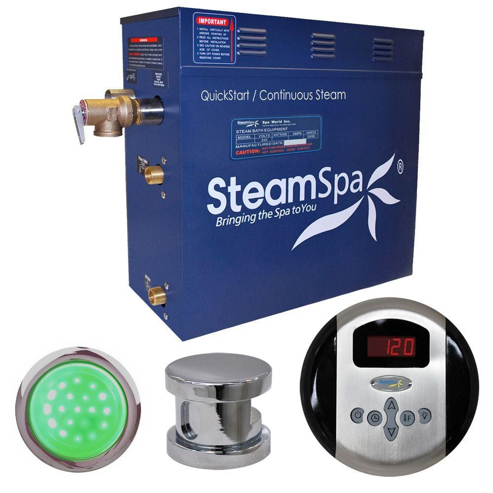 Indulgence 4.5kw Steam Generator Package in Chrome
