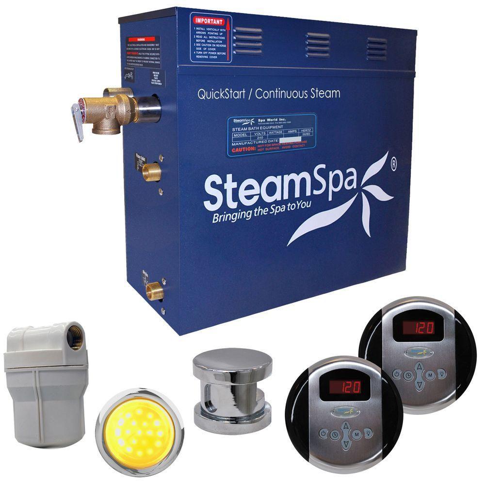 Royal 4.5kw Steam Generator Package in Brushed Nickel