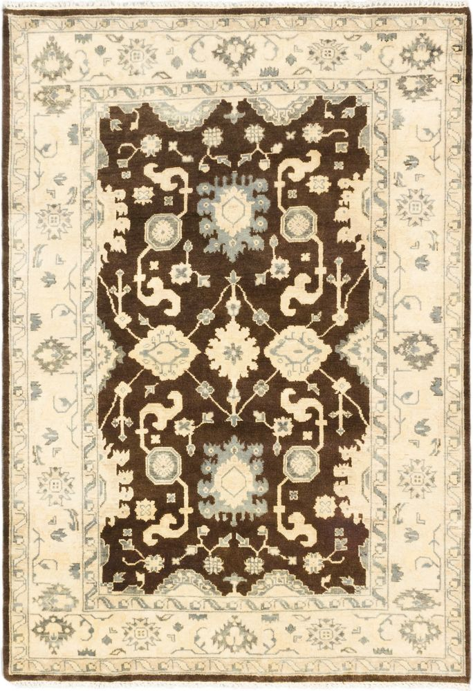 Hand-knotted Royal Ushak Cream Rug - 6 Ft. 3 In. x 9 Ft. 0 In.