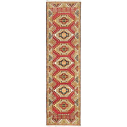 ECARPETGALLERY Hand-Knotted Royal Avery Red 2 ft. 8-inch x 9 ft. 9-inch Indoor Traditional Runner