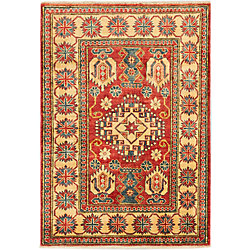ECARPETGALLERY Hand-Knotted Tamar Brown 3 ft. 4-inch x 5 ft. 1-inch Indoor Traditional Rectangular Area Rug