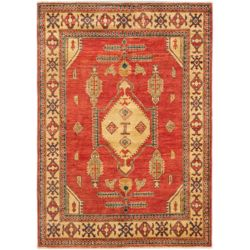 ECARPETGALLERY Hand-Knotted Tamar Red 4 ft. 3-inch x 5 ft. 11-inch Indoor Traditional Rectangular Area Rug