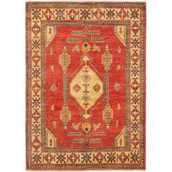 ECARPETGALLERY Carpette d'intérieur, 4 pi 3 po x 5 pi 11 po, nouée main, style traditionnel, rectangulaire, rouge Tamar