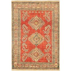 ECARPETGALLERY Hand-Knotted Tamar Red 3 ft. 7-inch x 5 ft. 2-inch Indoor Traditional Rectangular Area Rug