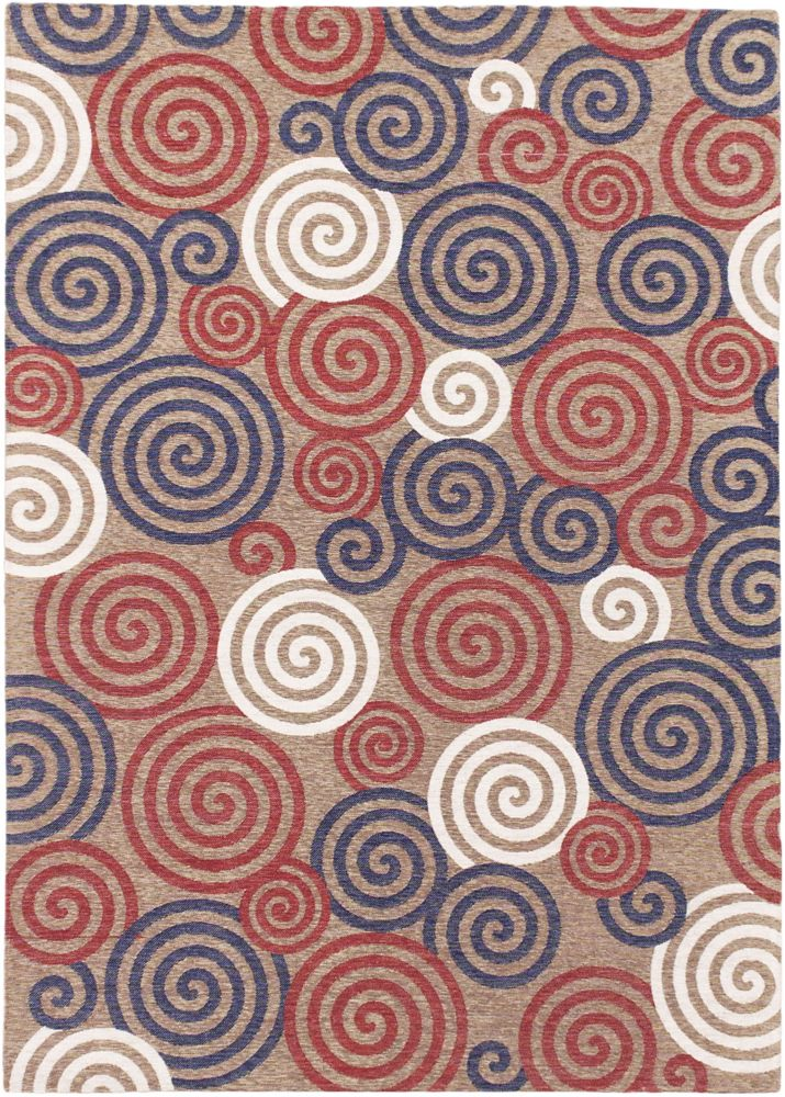 Portico Red 5 ft. 3-inch x 7 ft. 4-inch Rectangular Area Rug