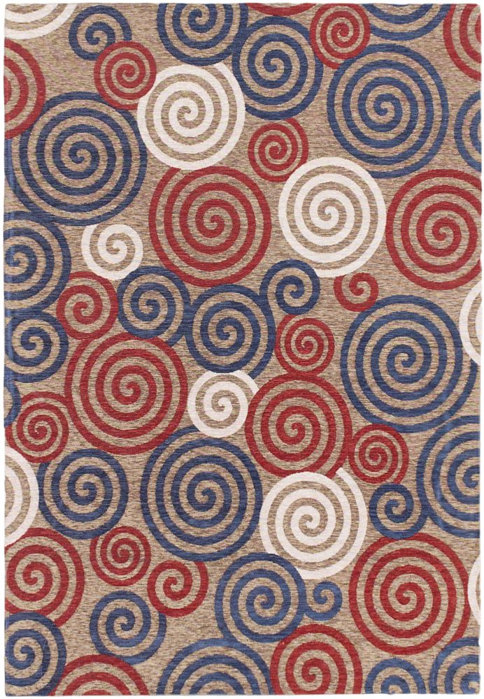 Portico Red 4 ft. 7-inch x 6 ft. 7-inch Rectangular Area Rug