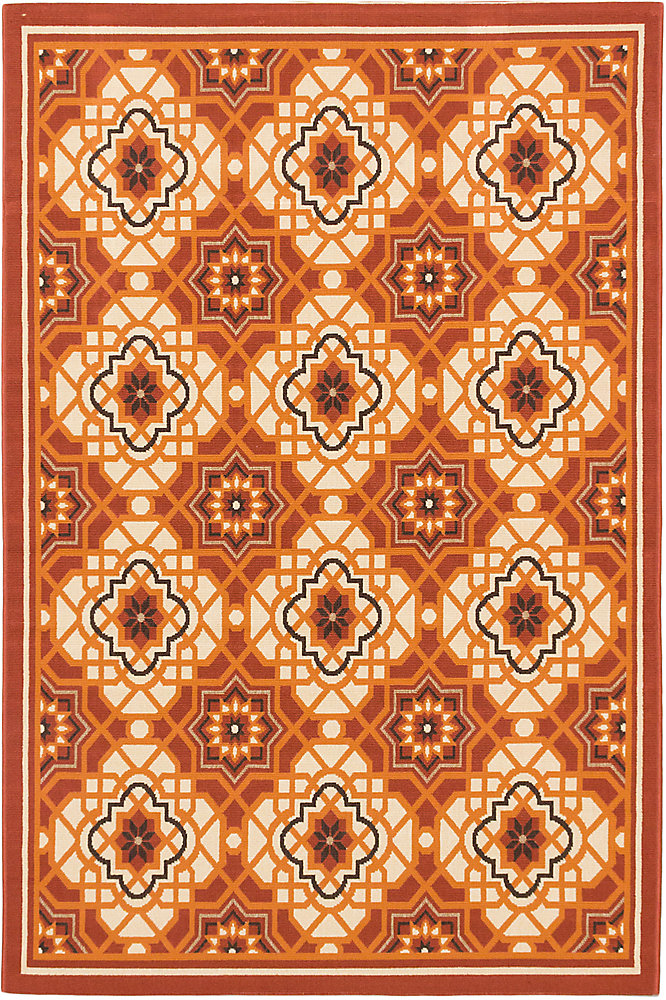 Tropicana Red 4 ft. 11-inch x 7 ft. 5-inch Rectangular Area Rug