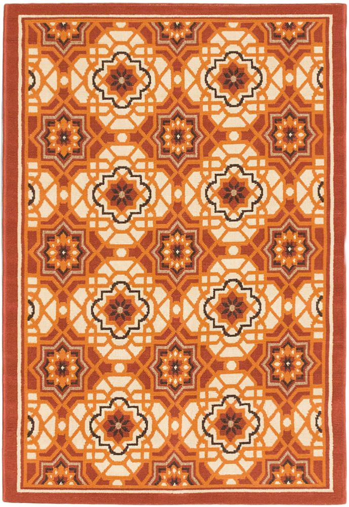 Tropicana Cream Dark Copper Rug - 3 Ft. 3 In. x 4 Ft. 11 In. 142957 Canada Discount