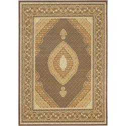ECARPETGALLERY Carpette, 4 pi 7 po x 6 pi 5 po, rectangulaire, brun Classic Mahee