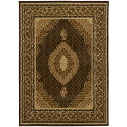 ECARPETGALLERY Classic Mahee Brown 5 ft. 5-inch x 7 ft. 6-inch Rectangular Area Rug