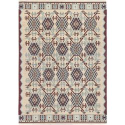 ECARPETGALLERY Portico Off-White 5 ft. 3-inch x 7 ft. 4-inch Rectangular Area Rug