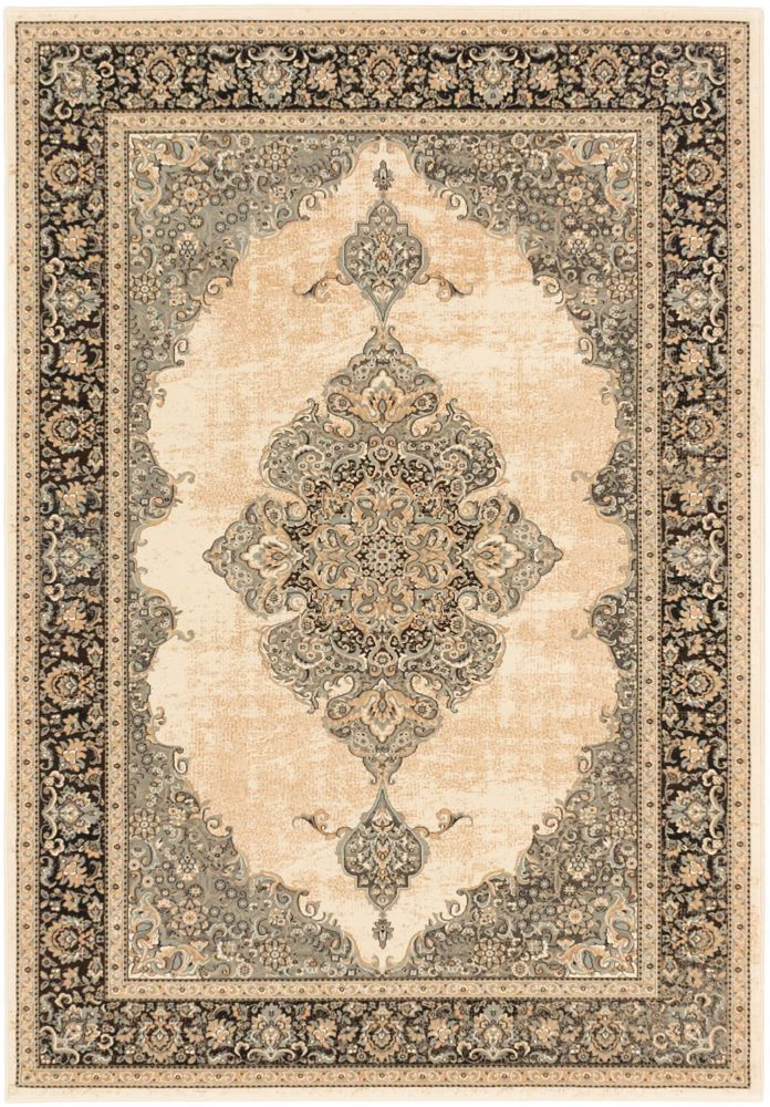Shahrzad Kerman Beige Cream Rug - 7 Ft. 10 In. x 11 Ft. 2 In. 109738 Canada Discount