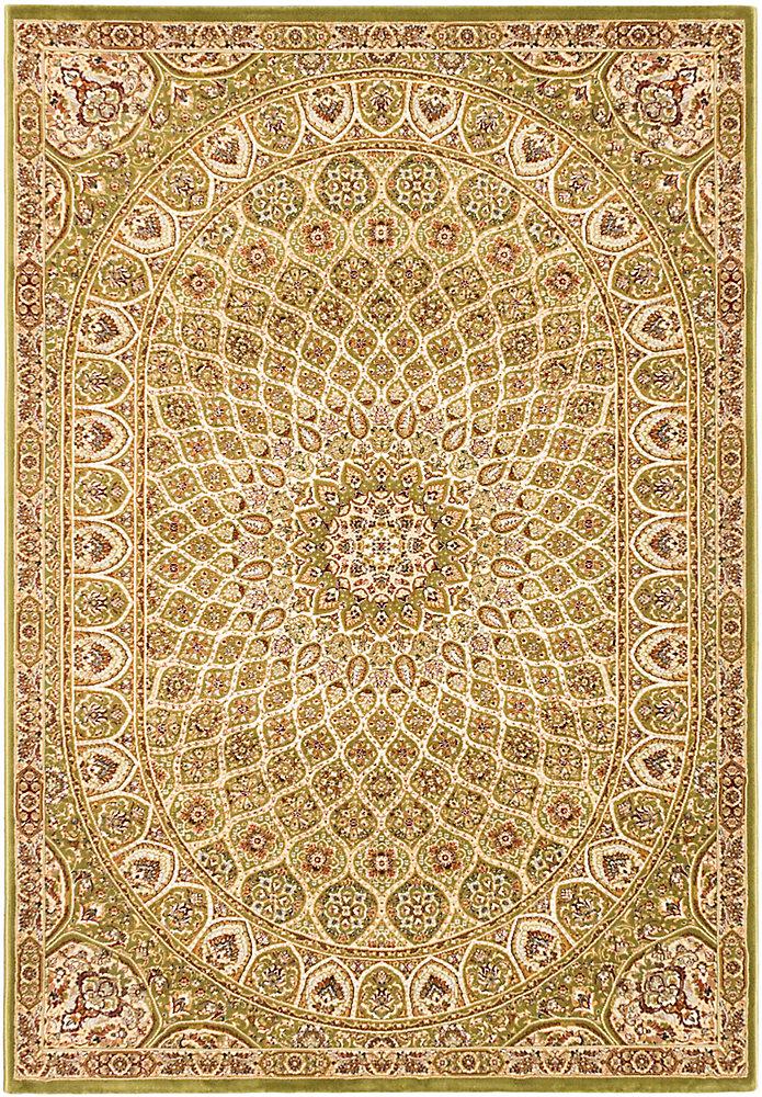 Carpette, 7 pi 10 po x 11 pi 2 po, rectangulaire, vert Persia Isfahan