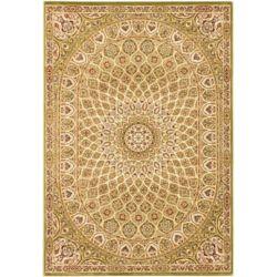 ECARPETGALLERY Carpette, 7 pi 10 po x 11 pi 2 po, rectangulaire, vert Persia Isfahan