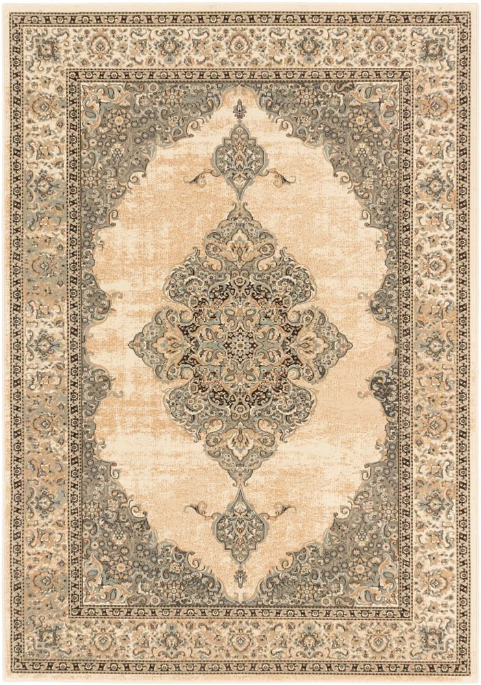 Shahrzad Kerman Beige Cream Rug - 3 Ft. 11 In. x 5 Ft. 3 In. 109752 in Canada