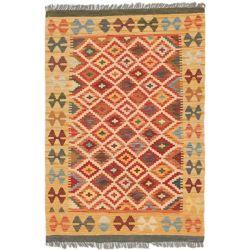 ECARPETGALLERY Carpette d'intérieur, 3 pi 4 po x 4 pi 10 po, tissée main, style traditionnel, rectangulaire, jaune Sivas Kilim