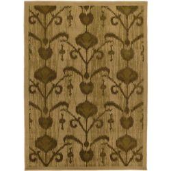 ECARPETGALLERY Carpette, 5 pi 5 po x 7 pi 5 po, rectangulaire, brun Ikat Vine
