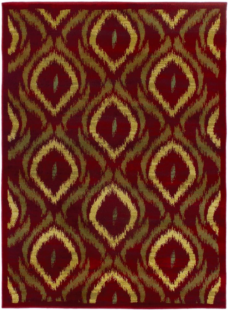 Ikat Red Rug - 5 Ft. 5 In. x 7 Ft. 8 In. 45278 Canada Discount