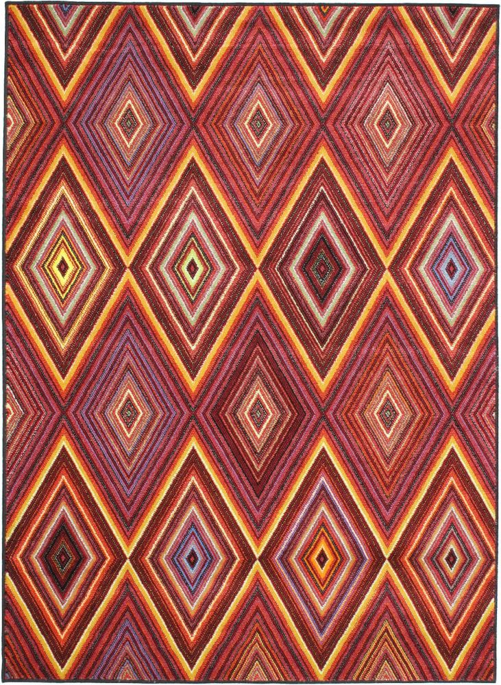 Chroma Red Rug - 4 Ft. 7 In. x 6 Ft. 3 In. 55392 in Canada