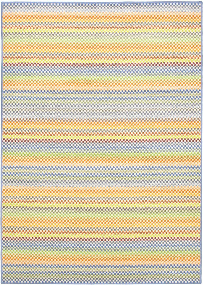 ECARPETGALLERY Chroma Multi-Colour 5 ft. 5-inch x 7 ft. 6-inch Rectangular Area Rug