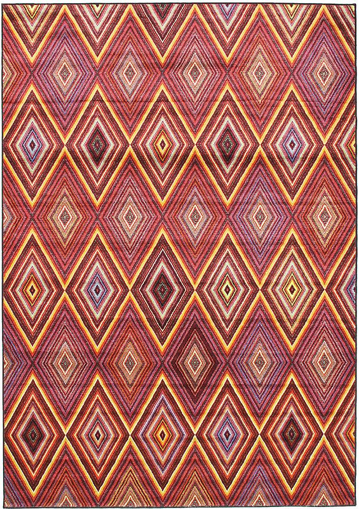 Carpette, 6 pi 7 po x 9 pi 6 po, rectangulaire, rouge Chroma
